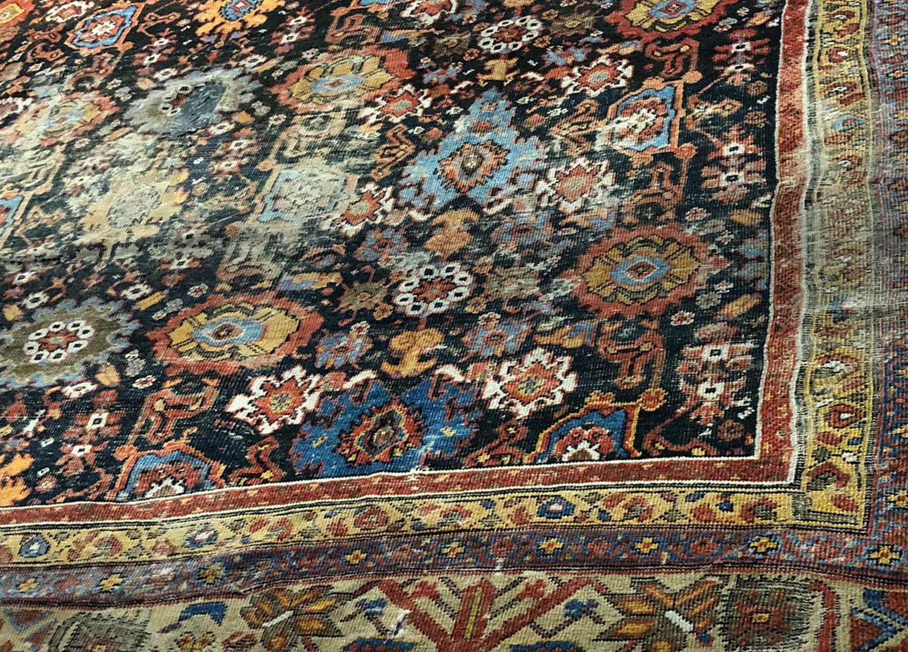 Before-Worn and faded Persian Heritz